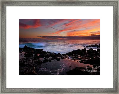 Waves Of Paradise Framed Print by Mike  Dawson