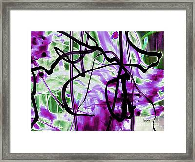 Waves Of Purple Framed Print