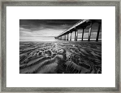 Waves Of Sand Framed Print by Ryan Weddle