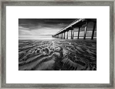 Waves Of Sand Framed Print