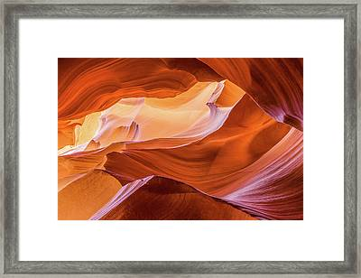 Framed Print featuring the photograph Waves Of Stone by Carl Amoth
