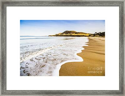 Waves Of Tranquil Calm Framed Print by Jorgo Photography - Wall Art Gallery