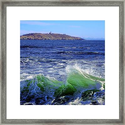 Waves Off Seguin Island Framed Print