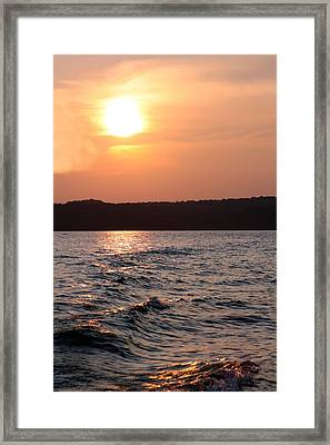 Waves On Greers Ferry Lake Framed Print by Kenna Westerman