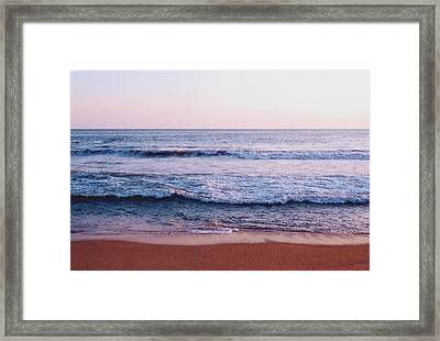 Waves On The Beach 2 Framed Print by Lyle Crump