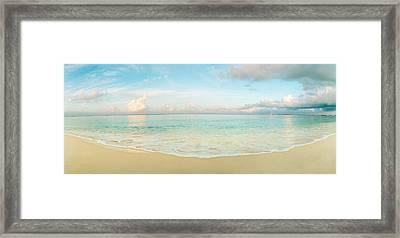 Waves On The Beach, Seven Mile Beach Framed Print