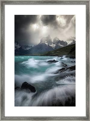 Waves On Waves Framed Print