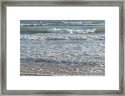 Waves Quietly Approaching Framed Print