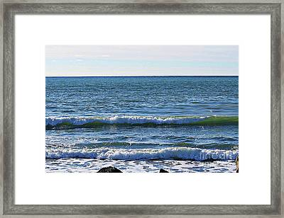 Waves Rolling In Framed Print by Barbara Griffin