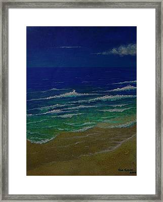 Waves Framed Print by Ron Sylvia