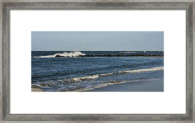 Framed Print featuring the photograph Waves by Sandy Keeton
