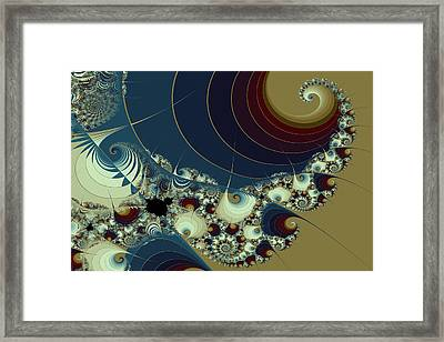 Waves Spirals And Mandelbrots No. 1 Framed Print by Mark Eggleston