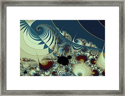 Waves Spirals And Mandelbrots No. 2 Framed Print by Mark Eggleston