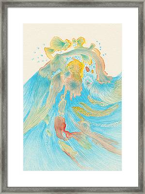 Waves - #ss16dw013 Framed Print by Satomi Sugimoto