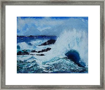 Waves Framed Print by Valerie Wolf