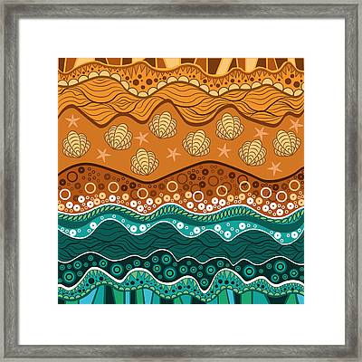 Waves Framed Print by Veronica Kusjen