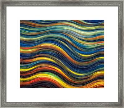 Wavescape Framed Print by De Es Schwertberger