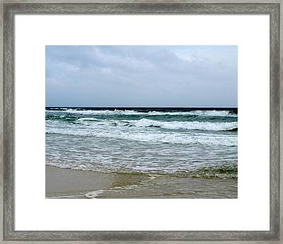 Waving At Pensacola Beach Framed Print by Connie Diane Richards