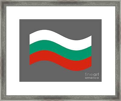 Waving Bulgaria Flag Framed Print by Frederick Holiday