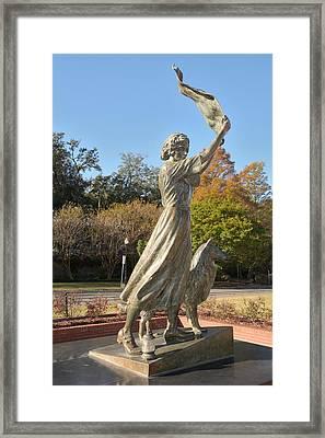 Framed Print featuring the photograph Waving Girl Of Savannah by Bradford Martin