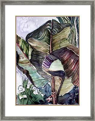 Waving Palms Framed Print by Mindy Newman