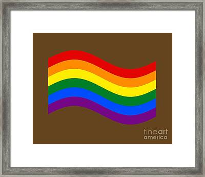 Waving Rainbow Flag Framed Print