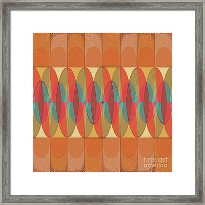 Wavy Color Stripe Framed Print