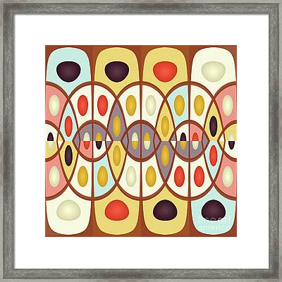 Wavy Geometric Abstract Framed Print