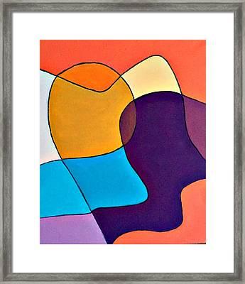 Wavy Hair Framed Print by Shelley Graham Turner