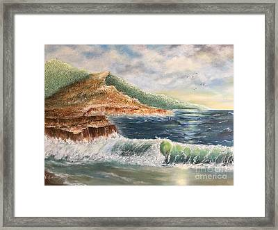 Wavy Pacific Hawaii  Framed Print by Viktoriya Sirris