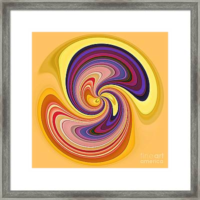 Wavy Stripes Figure 1 Framed Print