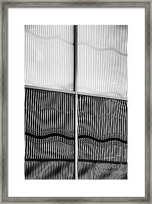Wavy Wall Reflection Framed Print