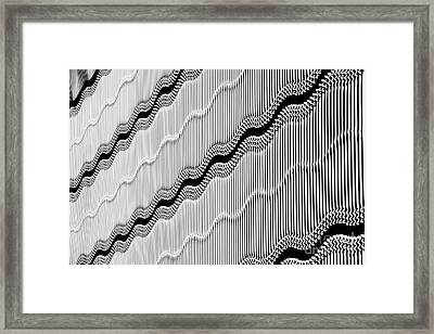 Wavy Wall Framed Print by Tim Gainey