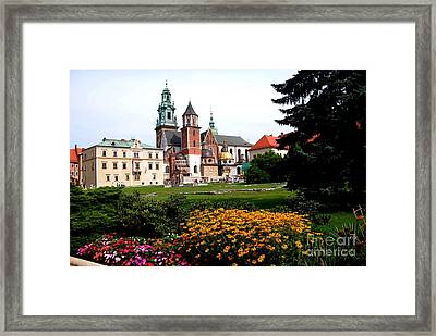 Wawel Cathedral In Krakow Framed Print by Jacqueline M Lewis