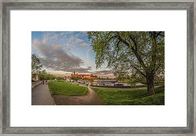 Wawel Royal Castle Seen From Vistula Bank In 16x9 Framed Print