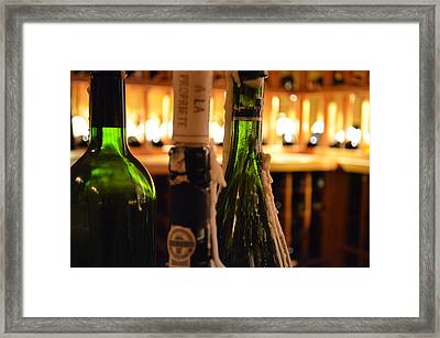Wax And Wine Framed Print by Elizabeth Phillips