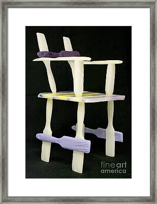 Wax Chair Framed Print by Karen  Peterson