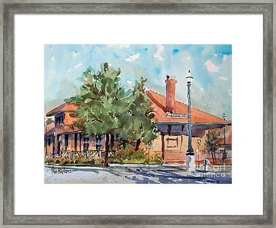 Waxachie Train Station Framed Print by Ron Stephens