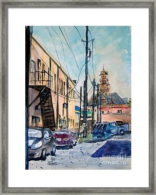 Waxahachie Back Alley Framed Print by Ron Stephens