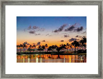 Waxing Crescent Framed Print by Jon Burch Photography