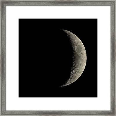 Waxing Crescent Moon Framed Print by Eckhard Slawik