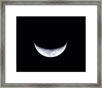 Waxing Crescent Moon Night 3 Framed Print