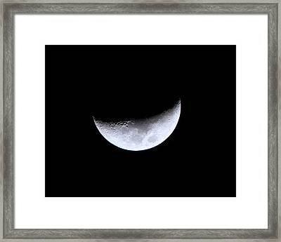 Waxing Crescent Night 4 Framed Print