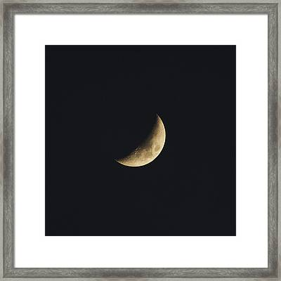 Waxing Crescent Spring 2017 Framed Print