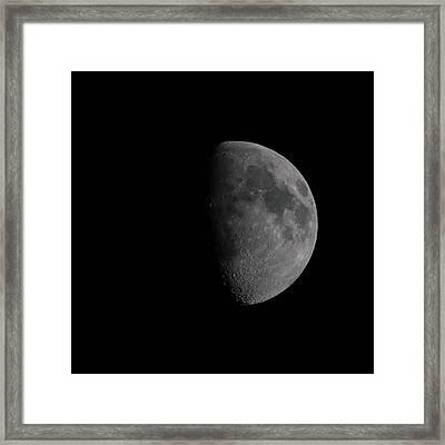 Waxing Gibbous Moon Framed Print