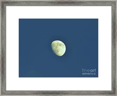 Waxing Moon Framed Print by D Hackett