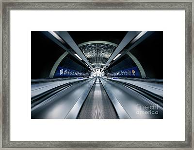 Way Down We Go Framed Print