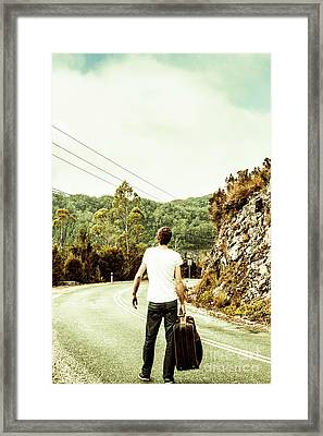 Way Of Old Travel Framed Print