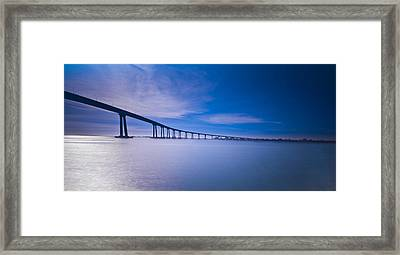 Way Over The Bay II Framed Print by Ryan Weddle