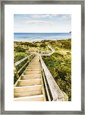 Way To Neck Beach Framed Print